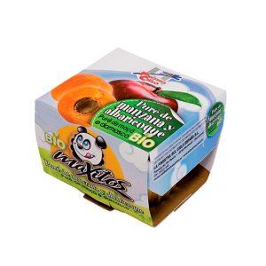 comprar Puré de manzana y albaricoque maxitos 200g online supermercado ecologico bio en barcelona frooty