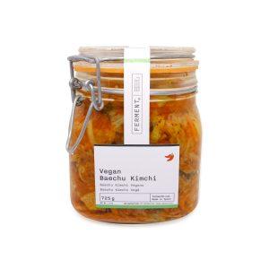 Baechu Kimchi Vegano Ferment en un bote de cristal de 725 gramos