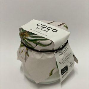 Yogur de coco by Angela en un bote de cristal de 125 ml