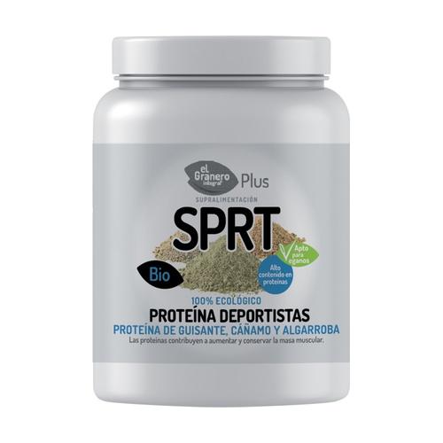 Proteína para deportistas de guisante, cáñamo y algarroba 100% ecológico