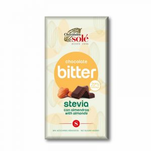 comprar chocolate almendras bitter stevia 72% chocolates sole online supermercado ecologico de barcelona frooty