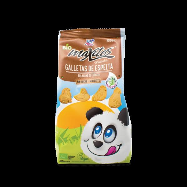 Galletas de espelta sin leche y bio Maxitos