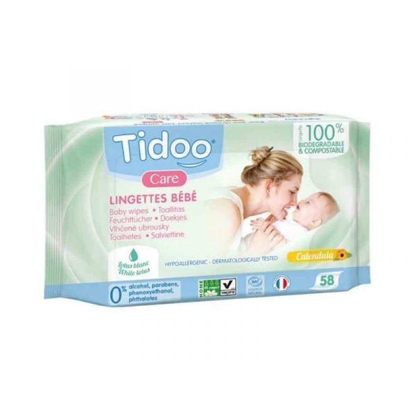 comprar Toallitas Biodegradables de Caléndula Para Bebé ECO tidoo online supermercado ecologico bio en barcelona frooty