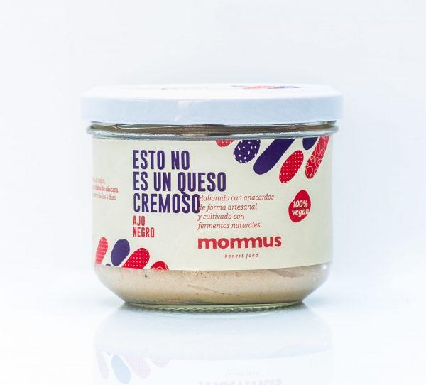 comprar Queso vegano cremoso al Ajo Negro Mommus elaborado con anacardos de forma artesanal y cultivado con fermentos naturales online supermercado ecologico bio en barcelona frooty