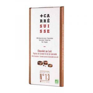 comprar Chocolate con Leche, Caramelo y Sal Marina de Guérande Carré Suisse, 100g online supermercado ecologico bio en barcelona frooty