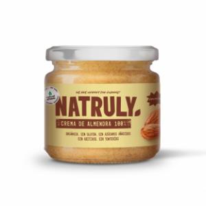 Crema de almendras sin azúcar vegana y orgánica de Natruly