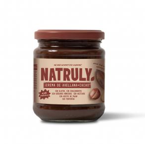 Crema de avellana y cacao Natruly de 300 gramos