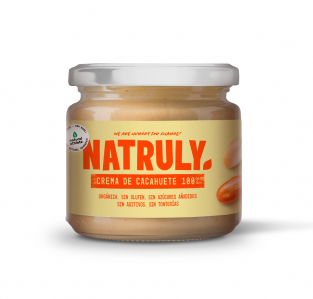 Crema de cacahuete sin azucar y vegana de Natruly