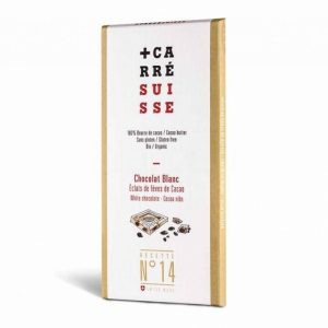 Chocolate Blanco & Nibs de Cacao, 120g Carre Suisse