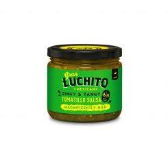 Tomatillo Salsa Picante Gran Luchito en un bote de cristal, 300g