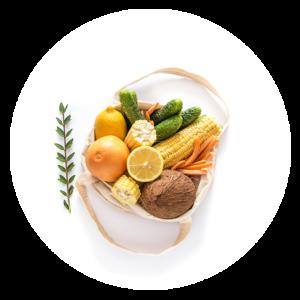 comprar Bolsa de tela natural para contribuir con el cero waste con frutas y verduras dentro online supermercado ecologico en barcelona frooty