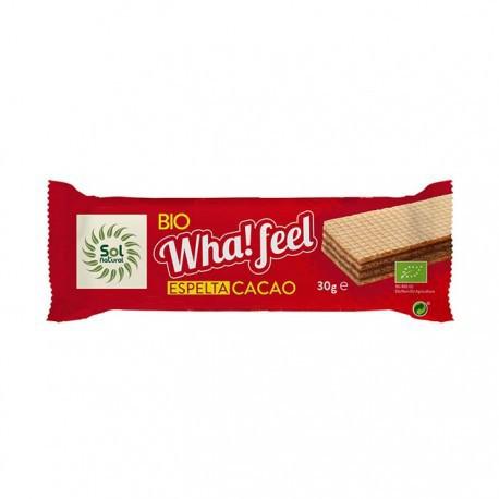 Barquillo de espelta y cacao Bio Wha!feel Sol Natural