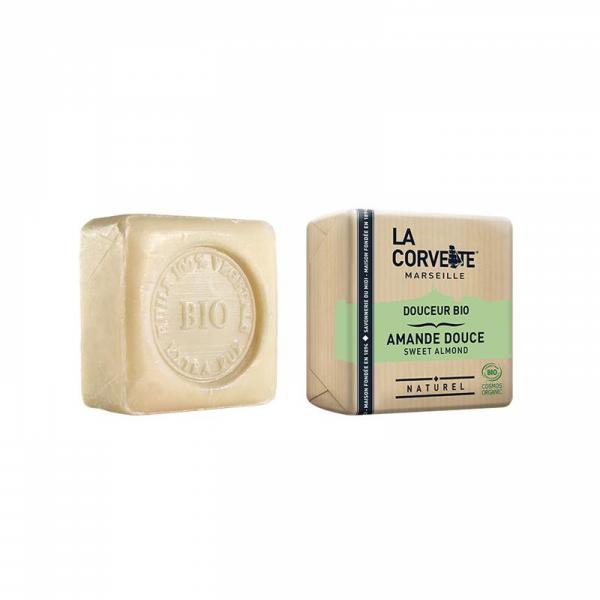 Jabón natural bio en pastilla de almendras dulces 100% vegano