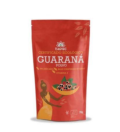 Guaraná en polvo Iswari con certificado ecológico y sin azucares