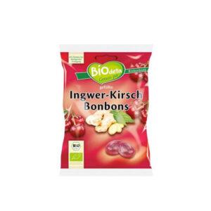 Caramelos Bio y veganos rellenos de jengibre y cereza