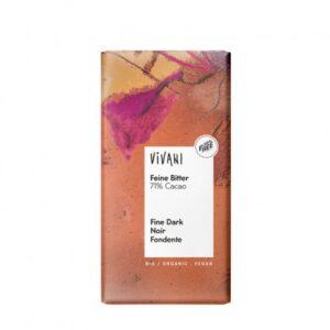 Chocolate negro bio y vegano 71% cacao de Vivani