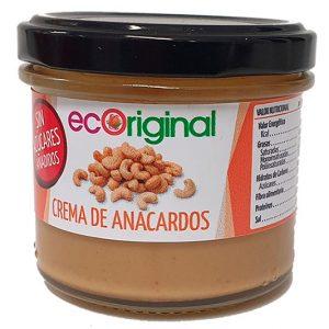 Crema de anacardos Ecoriginal sin azucares añadidos