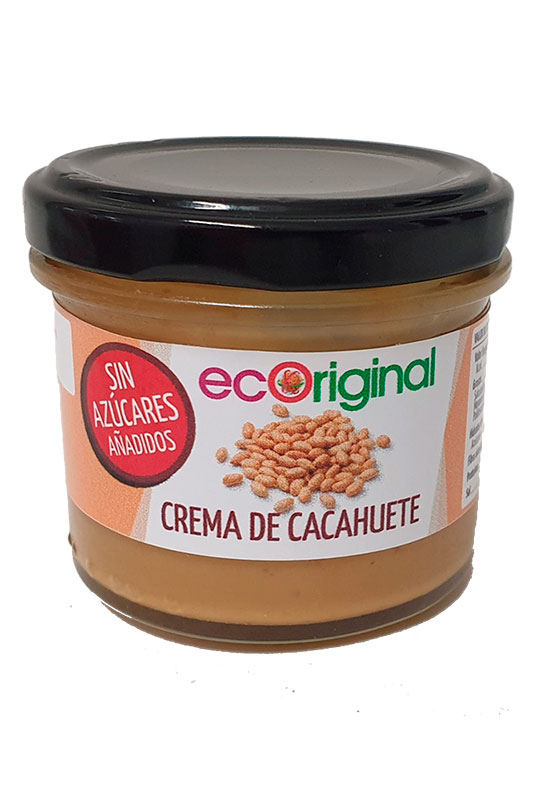 Crema de cacahuete Ecoriginal sin azucares añadidos 100% vegana