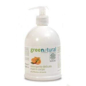 comprar Gel Limpiador de Mano y Cuerpo GreeNatural, 500ml online supermercado ecologico en barcelona frooty