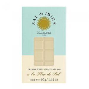 comprar mini Chocolate Blanco 38% Sal de Ibiza, 40gonline supermercado ecologico en barcelona frooty