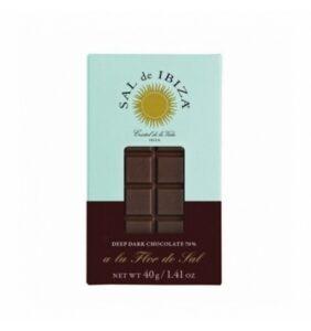 comprar mini Chocolate Negro 70% Sal de Ibiza, 40g online supermercado ecologico en barcelona frooty