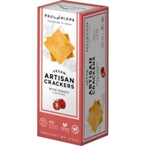 Crackers de Tomate y Aceite de Oliva en una caja