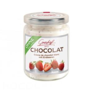 Crema Choco Blanco y Fresas, 250g