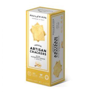 comprar Crackers de Queso Parmesano y Aceite de Oliva Veganos, 130g paul pippa online supermercado ecologico en barcelona frooty