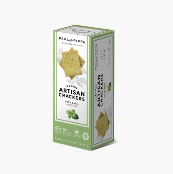 comprar Crackers de Albahaca, Quinoa y Aceite de Oliva, 130g paul pippa online supermercado ecologico en barcelona frooty