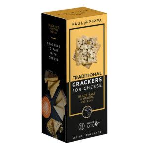 Crackers de Sal Negra, Quinoa y Aceite de Oliva, 130g
