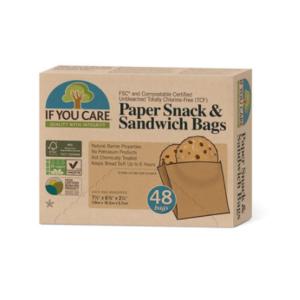 Bolsas de papel para llevar sándwich, snacks, galletas, patatas fritas, nueces, etc.
