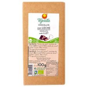 comprar chocolate bio con leche vegetalia online supermercado ecologico en barcelona frooty