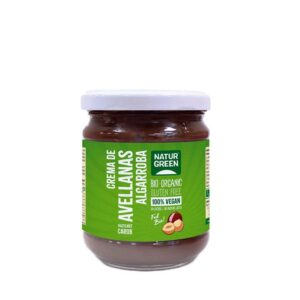 Crema de avellanas Algarroba Bio y 100% vegano, Natur Green