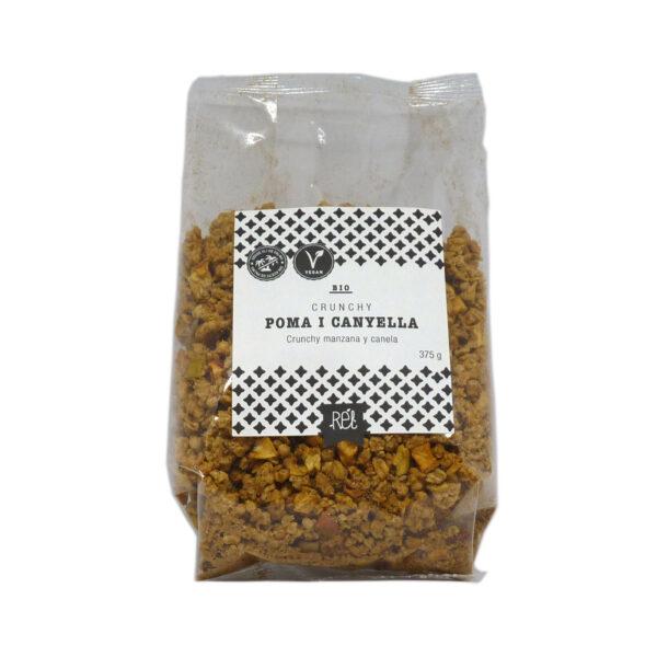 comprar Muesli crunchy de manzana y canela Bio Rél, 375 gramos online supermercado ecologico en barcelona frooty