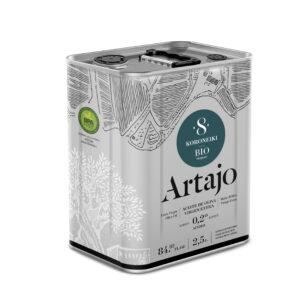 comprar aceite de oliva virgen extra 8 bio ecologico Artajo koroneiki 250 ml online supermercado ecologico en barcelona frooty