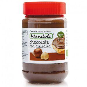 Crema de untar de chocolate con avellana 100% vegana Mandolé