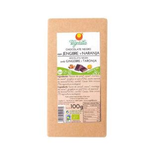 comprar chocolate bio negro con naranja y jengibre vegetalia online supermercado ecologico en barcelona frooty