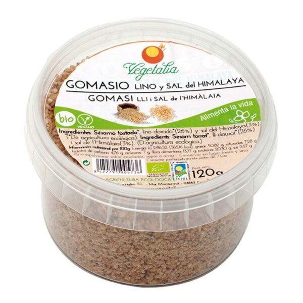 comprar gomasio-con-lino-y-sal-himalaya-vegetalia-120-gr online supermercado ecologico en barcelona frooty