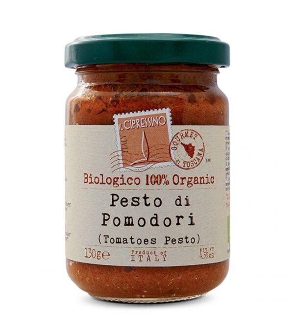 Pesto di Pomodori Il Cipressino, 100% biológico y orgánico, 190g