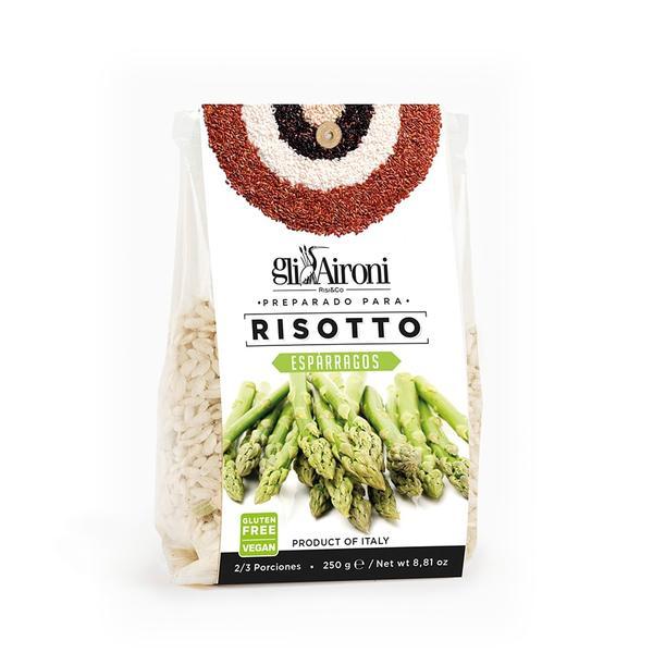 Preparado para risotto de espárragos Gli Aironi, 250 gramos