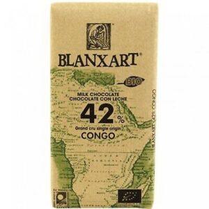 comprar chocolate con leche 42% congo bio blanxart online supermercado ecologico en barcelona frooty