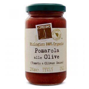 Salsa de Tomate con Olivas Il Cipressino, 190g