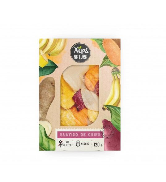Surtido de chips vegano y sin gluten XIPS NATURA