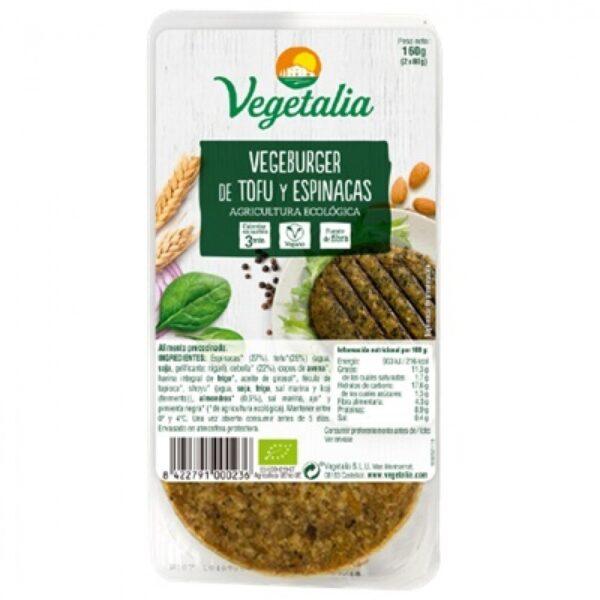 Comprar hamburguesa de tofu y espinacas vegetalia online supermercado ecologico barcelona frooty
