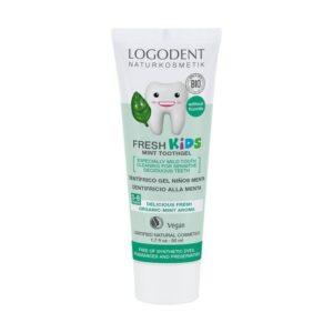 comprar dentifrico gel niños menta sin fluor logona online supermercado ecologico en barcelona frooty