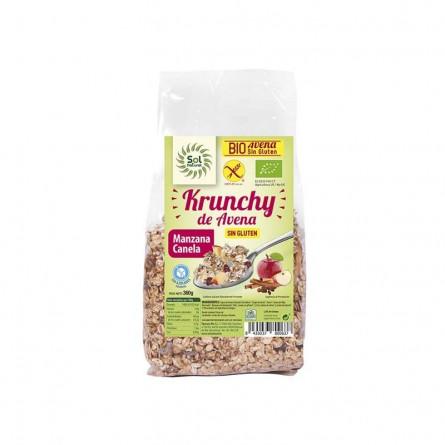 comprar Krunchy de avena, manzana y canela totalmente Bio y sin gluten, Sol Natural