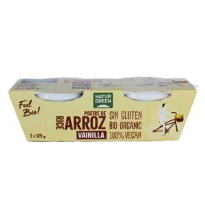 comprar postre-de-arroz-vainilla-bio-2x125g-naturgreen online supermercado ecologico en barcelona frooty