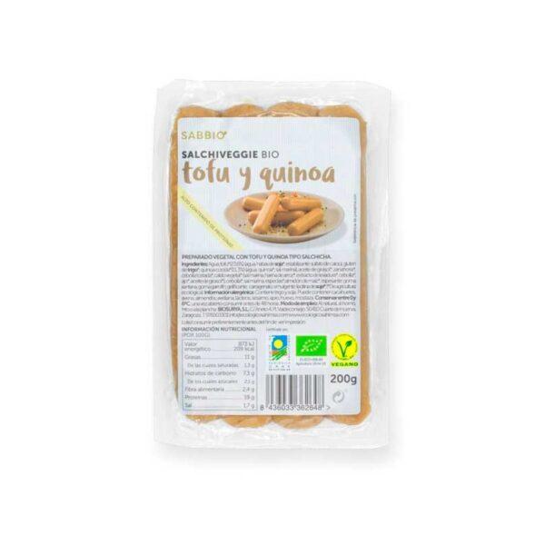 comprar salchichas tofu-quinoa sabbio-bio online supermercado ecologico en barcelona frooty