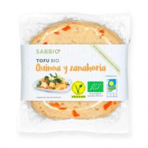 Comprar tofu de quinoa y zanahoria bio sabbio online supermercado ecologico vegano barcelona frooty