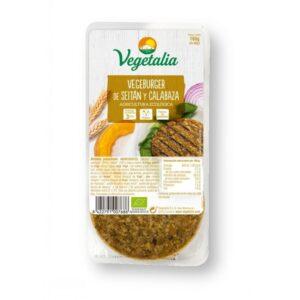 Comprar hamburguesa de seitán y calabaza vegetalia online supermercado ecologico barcelona frooty